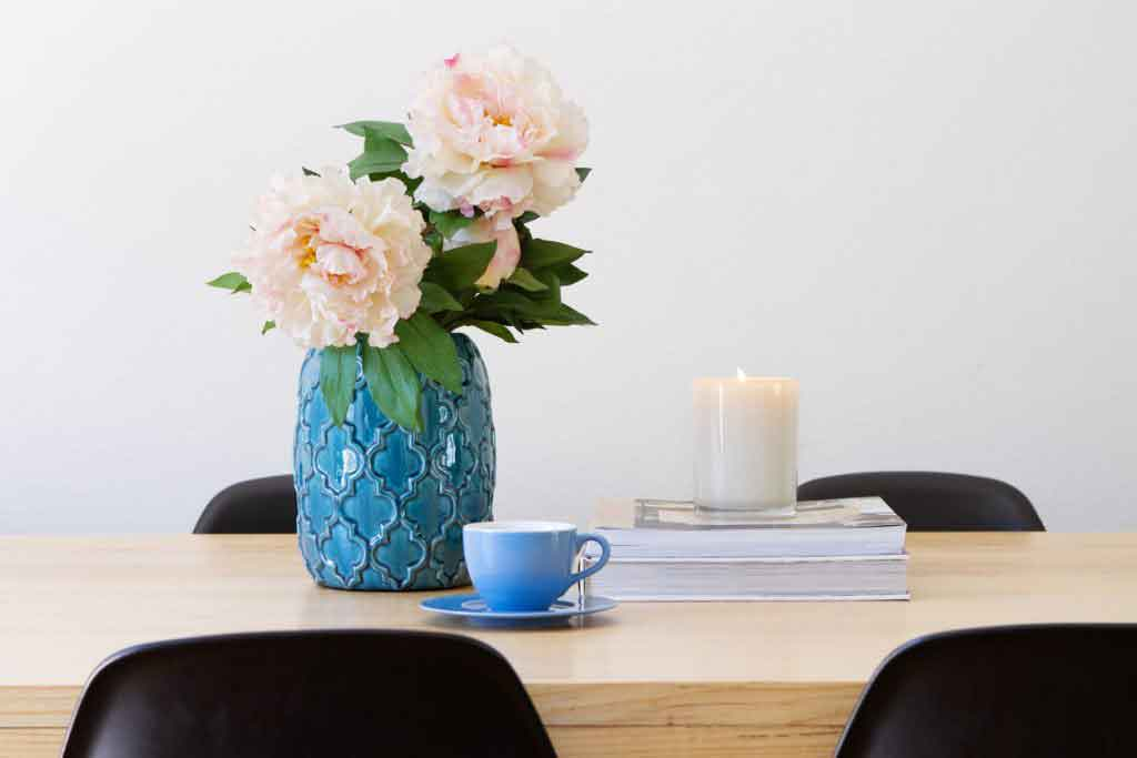 Contemporary interior dining table horizontal
