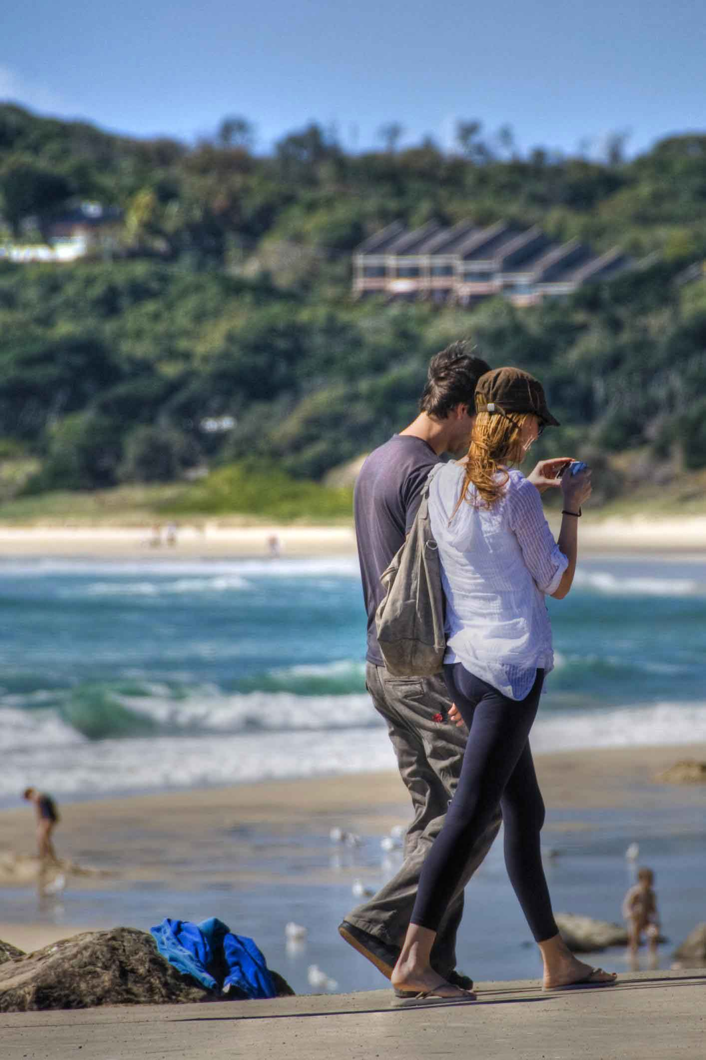 tourists byron bay