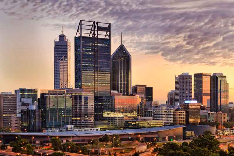 PERTH CBD Kings Close Peach Rise