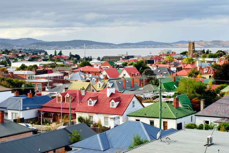 Best areas to buy property in tasmania in 2017 openagent hobart rooftops tasmania australia solutioingenieria Image collections