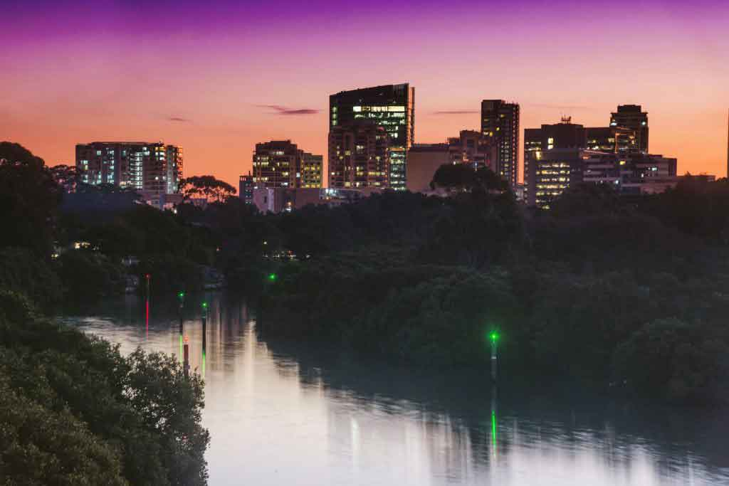 Parramatta at dusk