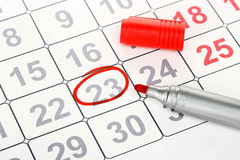 Date of settlement