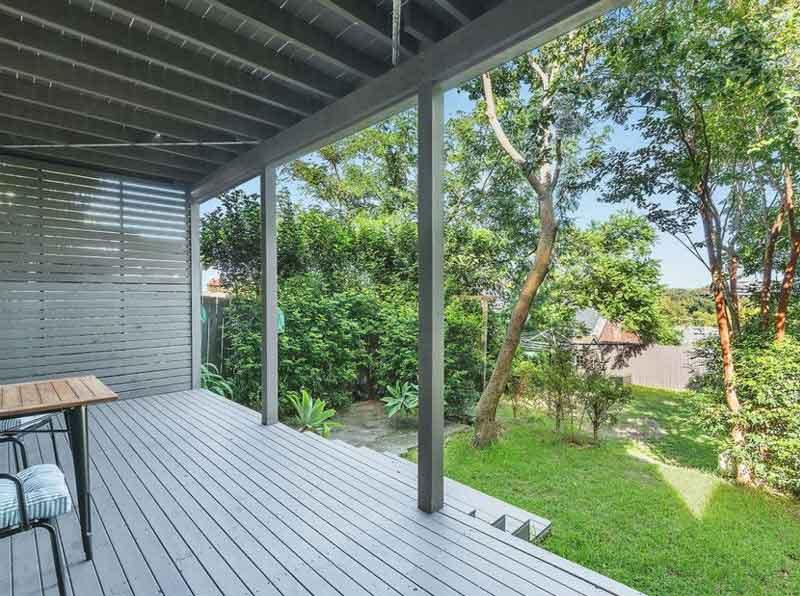 backyard of australian home