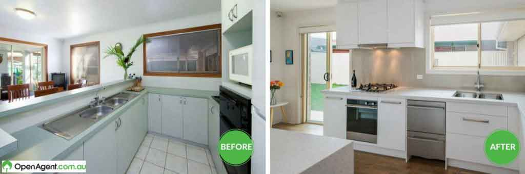 before and after kitchen renovation australia