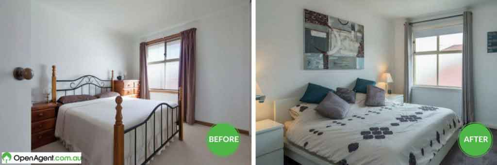 master bedroom renovation before and after
