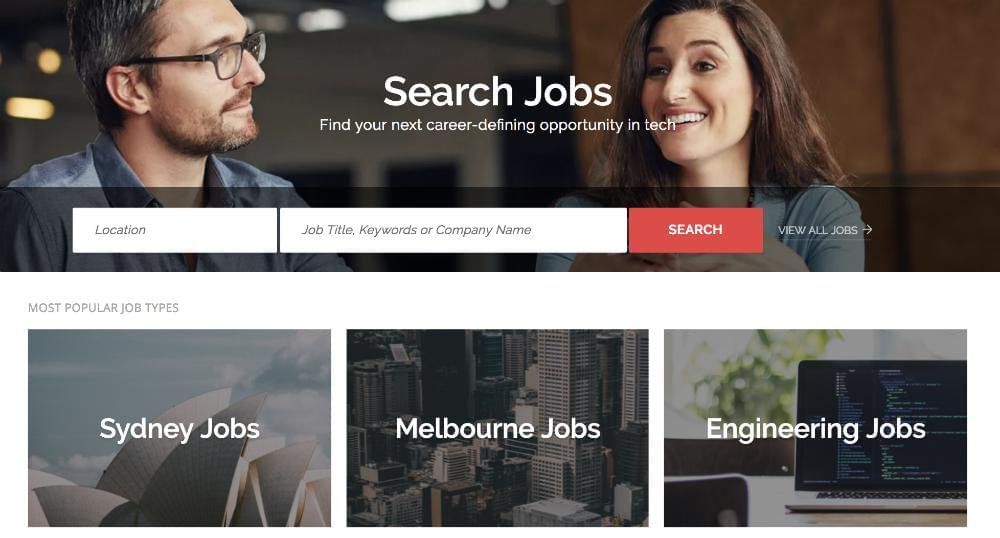 Pictured above is The Martec Career Page